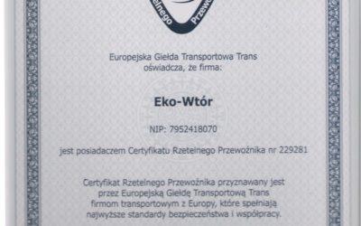 Certyfikat rzetelnego przewoźnika